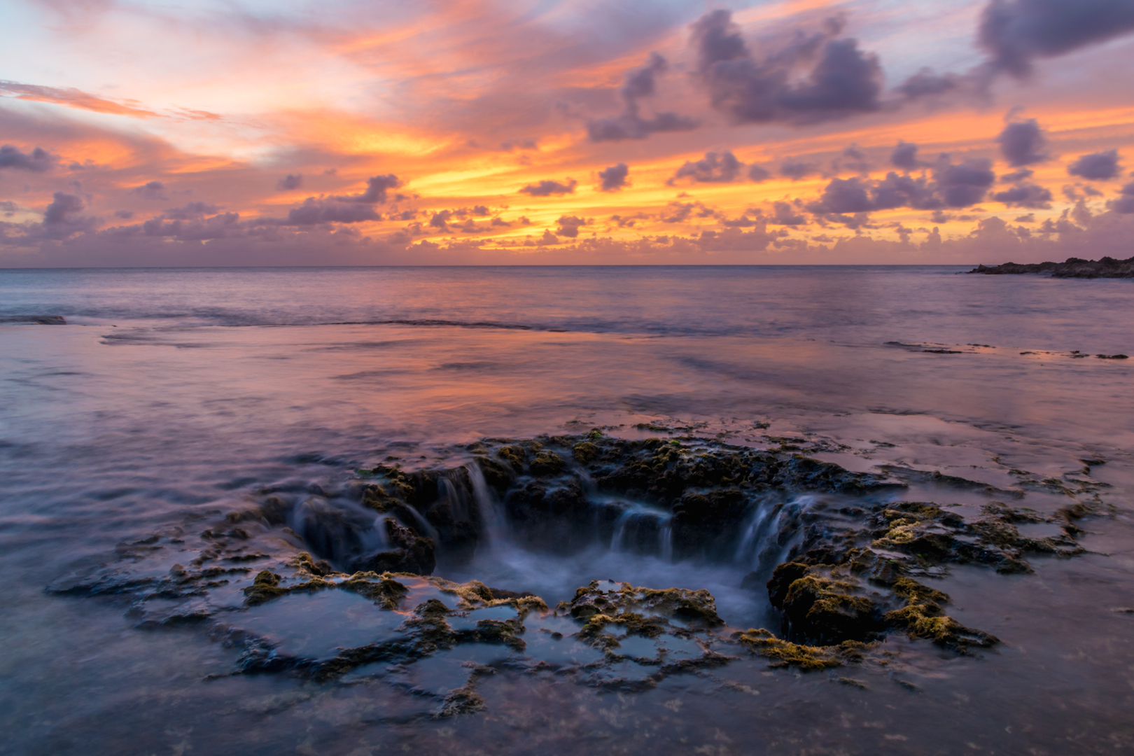 Elevator, shaft, shark's, cove, Oahu, Hawaii, North, Shore, snorkling, free, diving, sunset, thor's, well