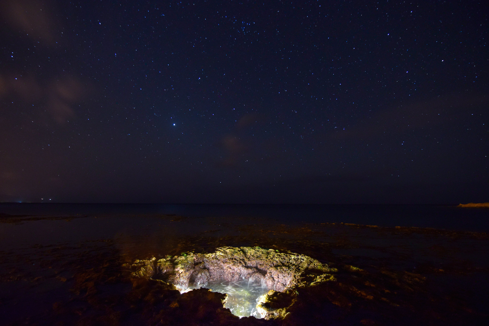 Elevator, shaft, shark's, cove, Oahu, Hawaii, North, Shore, snorkling, free, diving, night, dive, stars, astrophotography, thor's, well