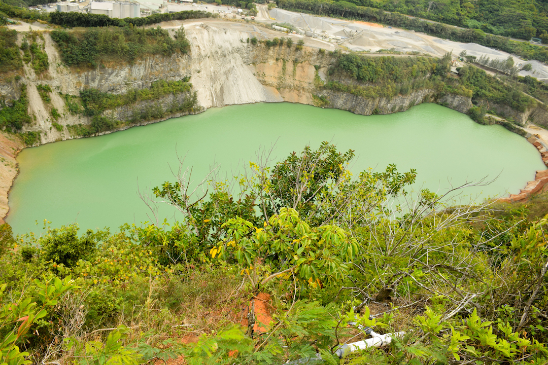 Oahu, Kapaa, quarry, pond, underground, water table