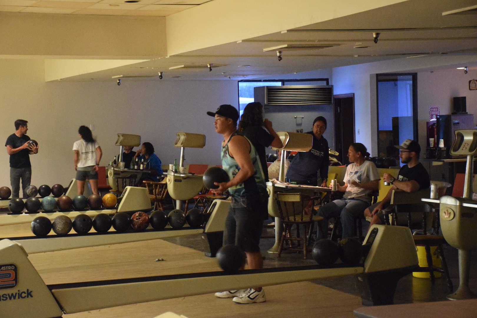 bowling at Midway Atoll, NOAA, down time, pastime, marine debris team