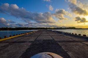 Midway, Atoll, Loading, Pier, Sunset