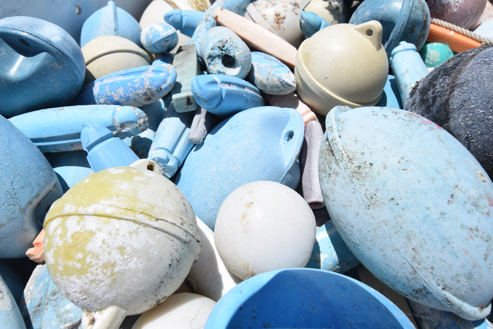 Midway, Atoll, Island, Northwestern, Hawaiian, beach, clean up, marine, debris, plastic,, floats, fishing, removal