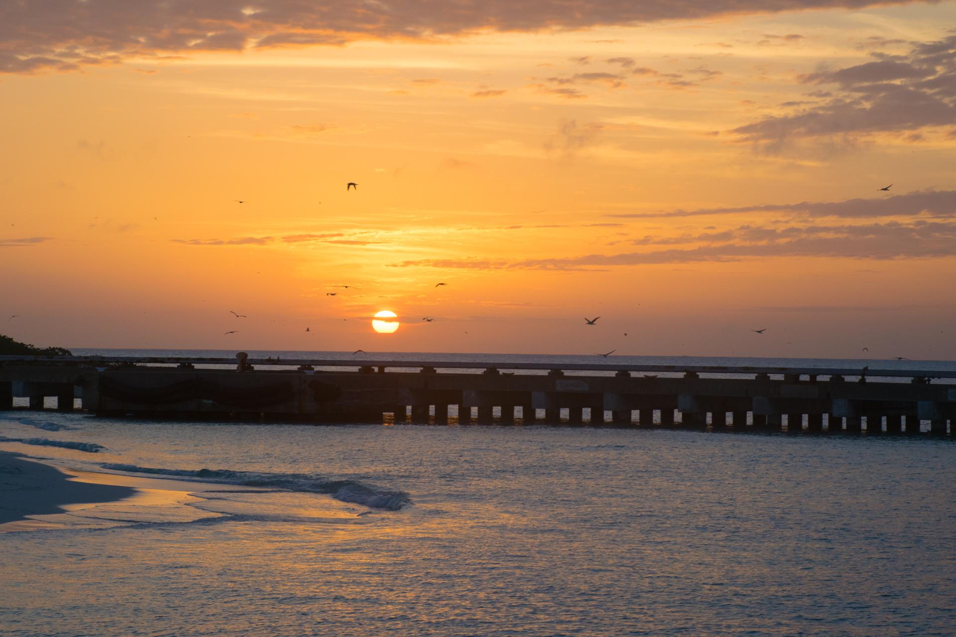 Midway, Atoll, Sunset