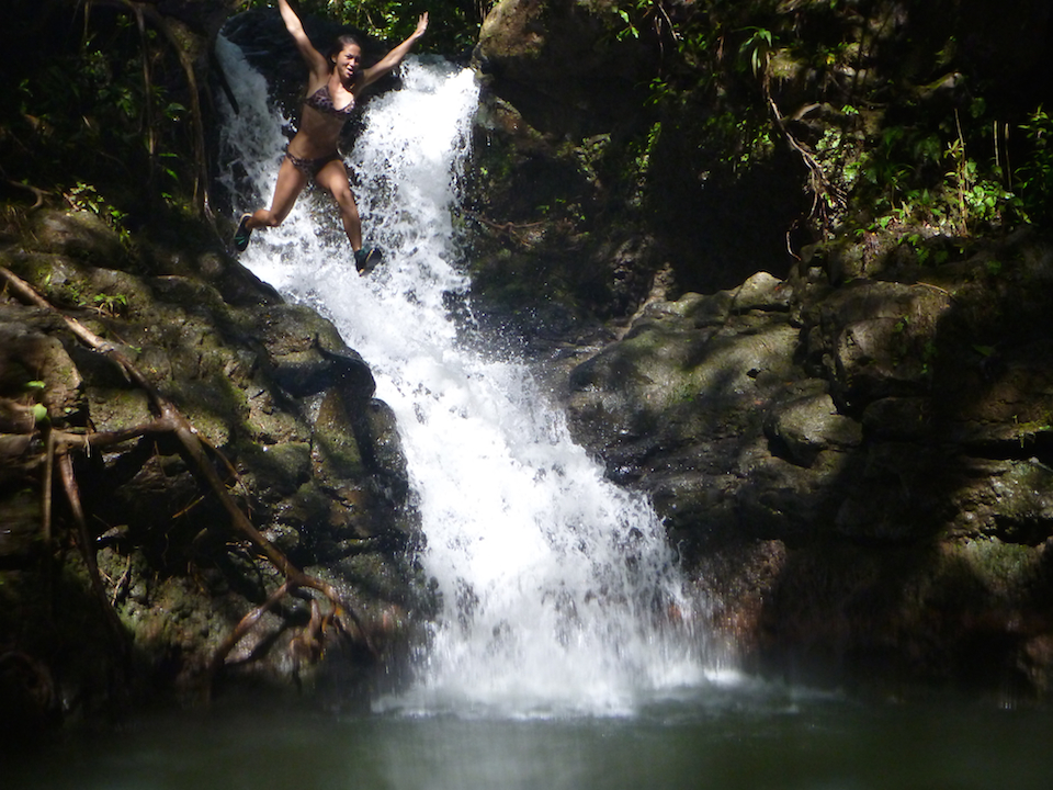 Kalauao, Falls, Aiea, Loop, Trail, junction, Oahu, Hawaii, Hike, Explore, Adventure, jumping, waterfall, swimming, pool, water, pond