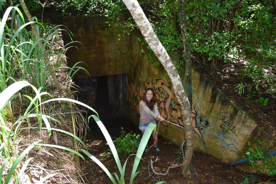 Hawaii, Oahu, Battery, Bunker,reservation, Wilridge, Lewis S. Kirkpatrick, Wili, Wiliwilinui, WW, II, 2, WWII, two, world war, ruins, military, army, coastal, defense, exploring, discovering, hiking, forest, jungle, secret, abandoned, hidden, slippery, walkway