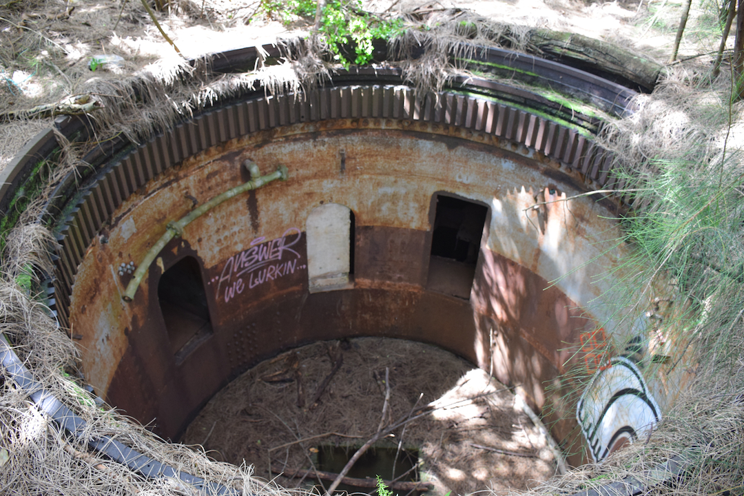 Hawaii, Oahu, Battery, Bunker,reservation, Wilridge, Lewis S. Kirkpatrick, Wili, Wiliwilinui, WW, II, 2, WWII, two, world war, ruins, military, army, coastal, defense, exploring, discovering, hiking, forest, jungle, secret, abandoned, hidden, Steel, Barbette, turret
