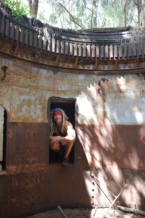 Oahu, Hawaii, Exploring, Bunker, Hike, Steel, Barbette, Turret, 8-inch, gun, coastal defense, Battery Wili, Wilridge, Wiliwilinui, Louis S. Kirkpatrick