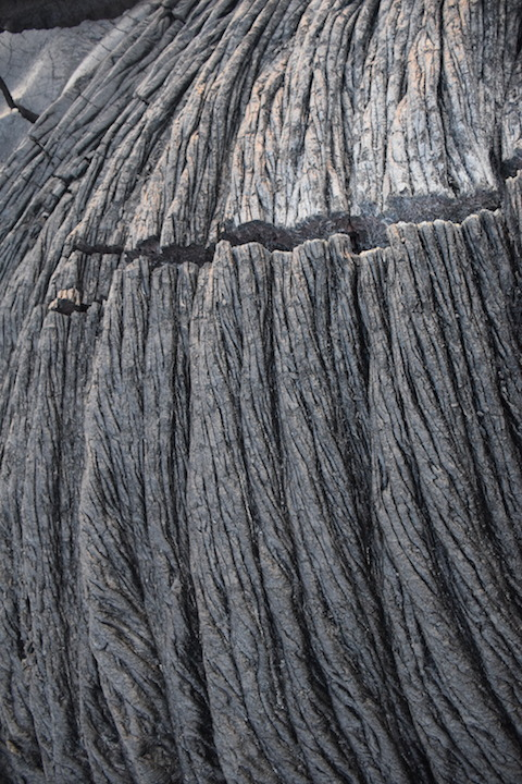 Hawaii, big, island, kilauea, kalapana, lava, dried, rock, igneous, rope, crack, fissure