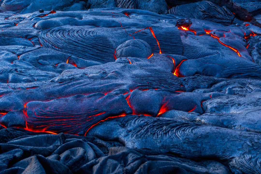 Trek, hike, photography, adventure, exploration, Volcano, volcanoes national park, Hawaii, big, island, kilauea, kalapana, lava, dried, rock, igneous, magma, melting, hot, fire, eruption, 61g, east rift zone, surface, breakout, active, lava tube, cracks, fissures, glowing