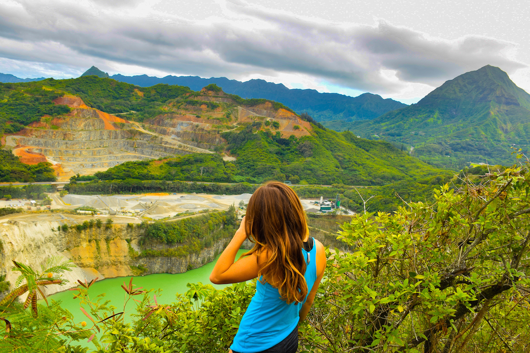 Hiking, Adventure, Exploring, Oahu, Hawaii, Kaneohe, Bay, Friendship, garden, Oneawe, hills, Kapaa, quarry, beautiful, woman
