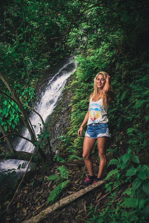 Waihehe, Falls, Waterfall, Oahu, Hike, Adventure, Explore, Hawaii, Kaneohe, nymph, girl