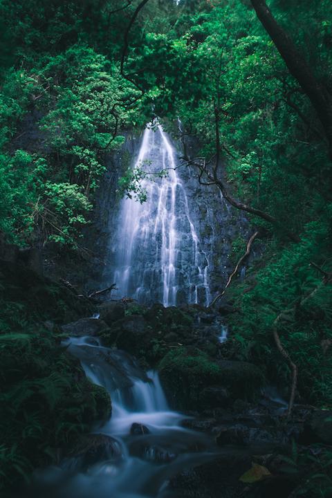 Oahu, waterfall, hawaii