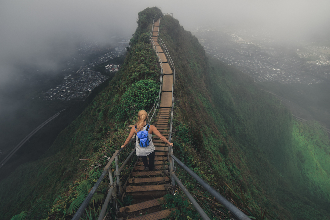 Hawaii, Oahu, Moanalua, Forest, Jungle, Hike, Trek, exploration, discover, ridge, Koolau, mountain, Haiku, stairs, stairway to heaven